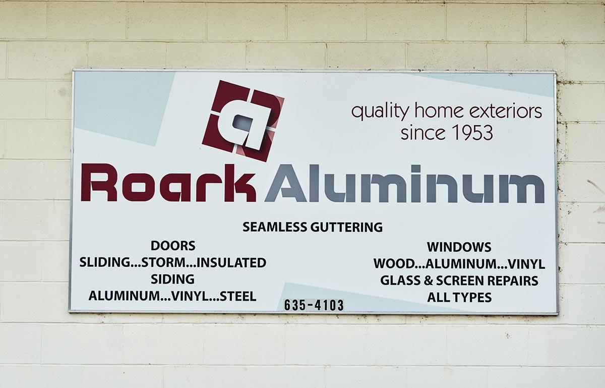 Roark Aluminum Sign