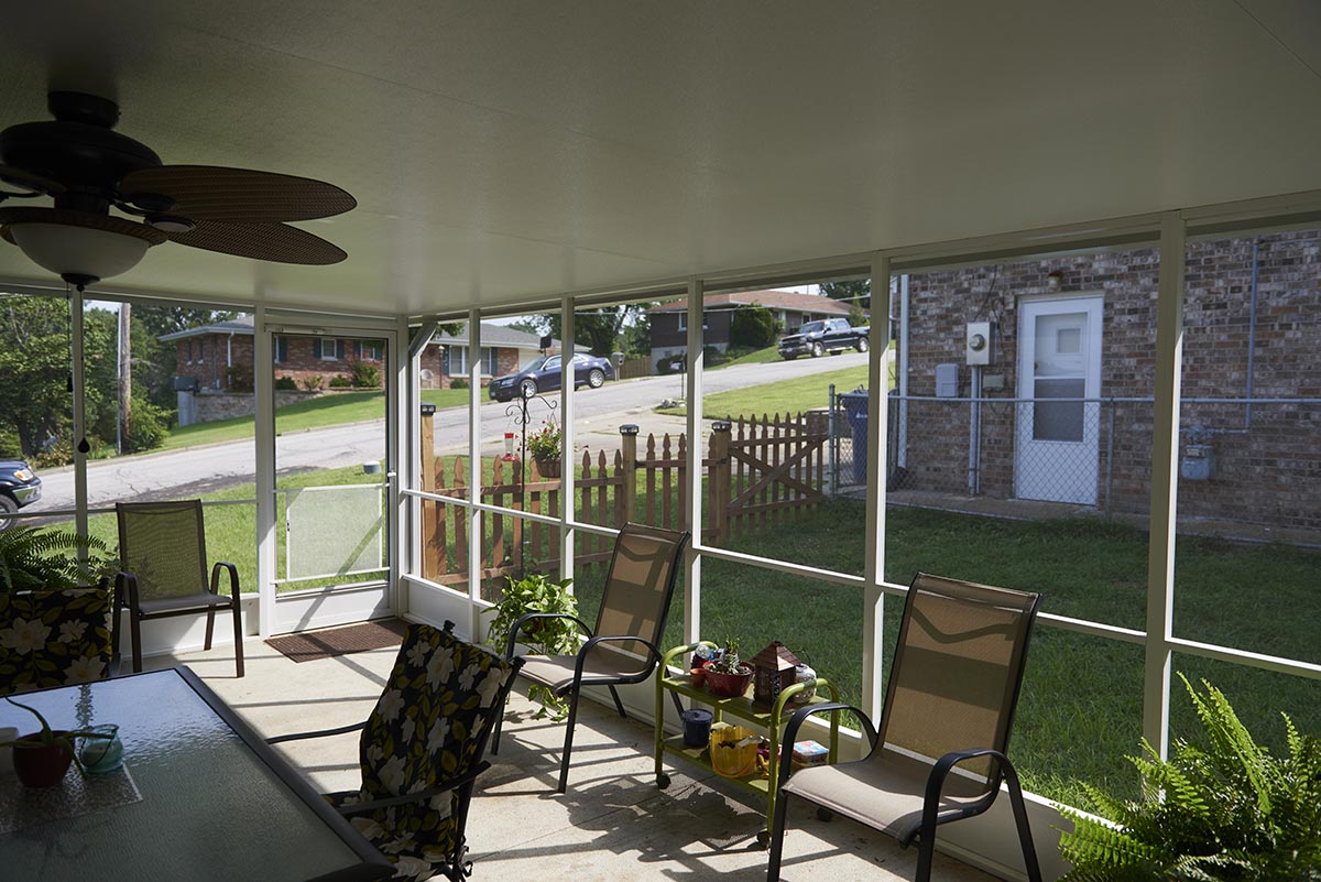Screened Patio Inside